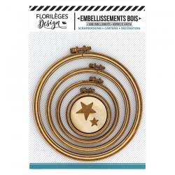 Abbellimenti Legno Florileges design - Telai Tondi