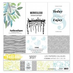 Kit Calques Florileges Design YELLOW (vellum)