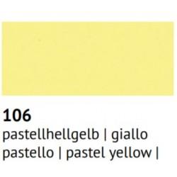 Foglio Gomma Crepla 1mm Giallo pastello 60x40cm