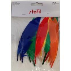 Set di 15 Piume sintetiche colori assortiti