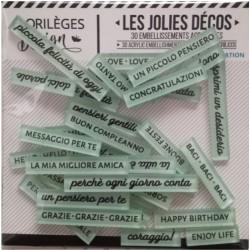 Scritte in acrilico Dolci Parole ROSE CELADON Florileges Design