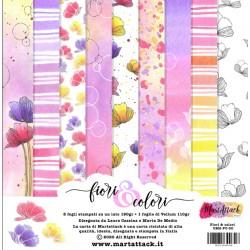 Pad di Carte Martattack Shop - Fiori & Colori 30x30cm