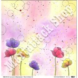 1 Foglio carta Martattack Shop - Fiori & Colori-01 30,5x30,5cm 190gr