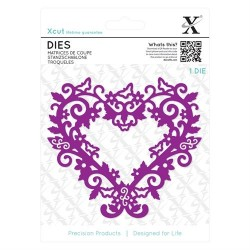XCUT Die - Filigree Heart Frame