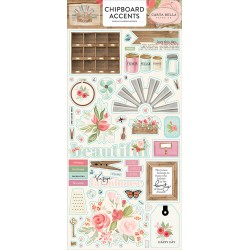 Carta bella HOME AGAIN Chipboard accents