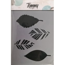 Stencil Tommy Design A6 - Trama Foglie