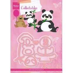 Marianne Design Collectables Eline's panda & bear