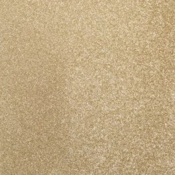 1 Foglio self-adhesive glitter paper 160g 30,5x30,5cm Light Gold