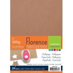 Florence Carta Kraft A4 (300 gr)  -  20 fogli
