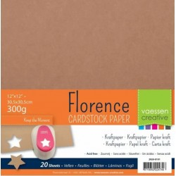 Florence Carta Kraft 30x30cm  (300 gr)  -  20 fogli