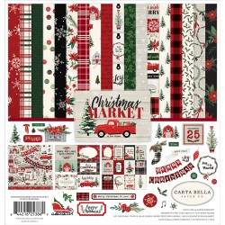 Carta Bella Christmas Market 12x12 Inch Collection Kit