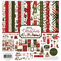 Carta Bella Hello Christmas 12x12 Inch Collection Kit