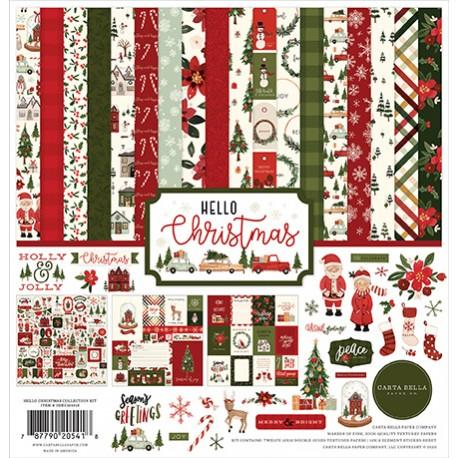 Carta Bella Hello Christmas 12x12 Inch Collection Kit