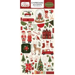 Carta bella Hello Christmas Chipboard accents