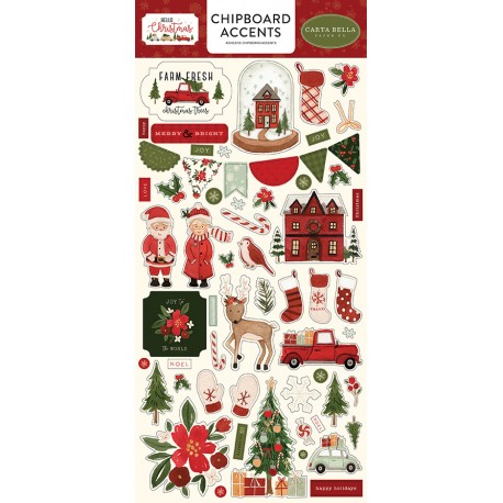 Carta bella Winter Market Chipboard accents