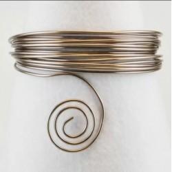Filo di Alluminio 1,5mm x5mt Antracite - Aluminium Wire Grey Anthracite