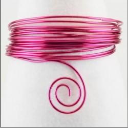 Filo di Alluminio 1,5mm x5mt Fucsia - Aluminium Wire Strong Pink