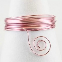 Filo di Alluminio 1,5mm x5mt Rosa - Aluminium Wire Rose