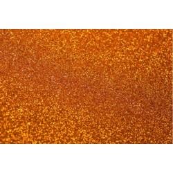 Foglio Gomma Crepla Glitter Arancio 20x30cm