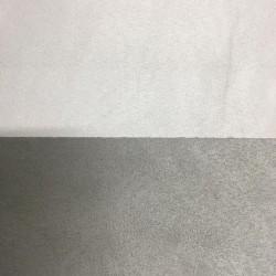 Tessuto Similpelle vellutato Termomodellabile 50x70cm bifacciale grigio-bianco
