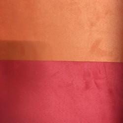 Tessuto Similpelle vellutato Termomodellabile 50x70cm bifacciale rosso/arancio