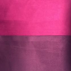 Tessuto Similpelle vellutato Termomodellabile 50x70cm bifacciale violetto/porpora