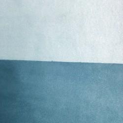 Tessuto Similpelle vellutato Termomodellabile 50x70cm bifacciale blu/turchese
