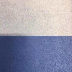 Tessuto Similpelle vellutato Termomodellabile 50x70cm bifacciale blu chiaro/scuro