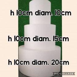 set 3 basi in polistirolo ad alta densità (h10/diam 10,15,20)