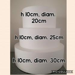 Set 3 basi in polistirolo ad alta densità (h10/diam 20,25,30)