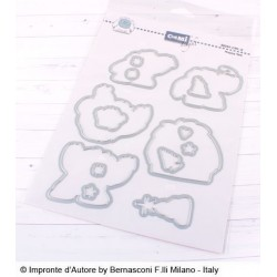 Set Fustelle Impronte D'autore Happy Yeti