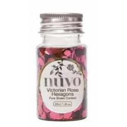 Nuvo • Confetti 35Ml Victorian Rose Hexagons