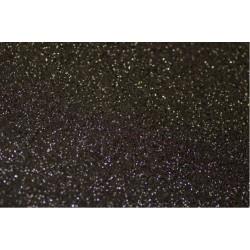 Foglio Gomma Crepla Glitter Nero 20x30cm