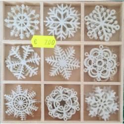 Abbellimenti natalizi in feltro bianco 36pz