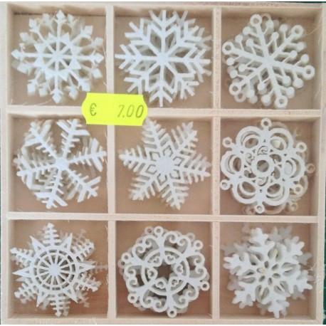 Abbellimenti natalizi in legno 36pz