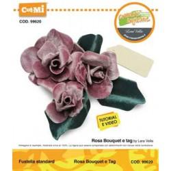 Fustella Cut-Mi Impronte D'autore Rosa Bouquet e Tag