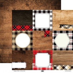 Tommy double face paper – Christmas Cabin