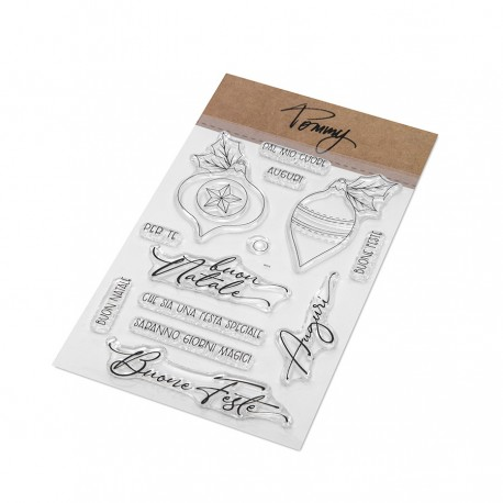 Tommy clear stamps – Buon Natale