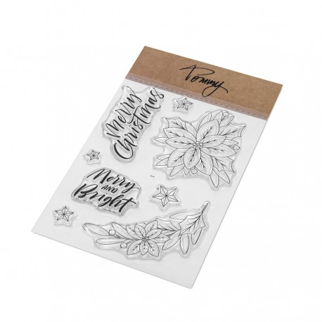 Tommy clear stamps – Poinsettia