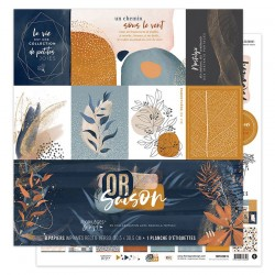 Kit Carte Florileges Design OR SAISON