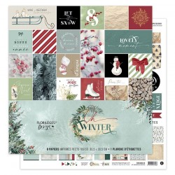 Kit Carte Florileges Design OH WINTER