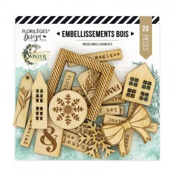 Embellissements Bois OH WINTER Florileges Design