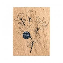 Timbro di legno Florileges Design - BRANCHE DE MAGNOLIA