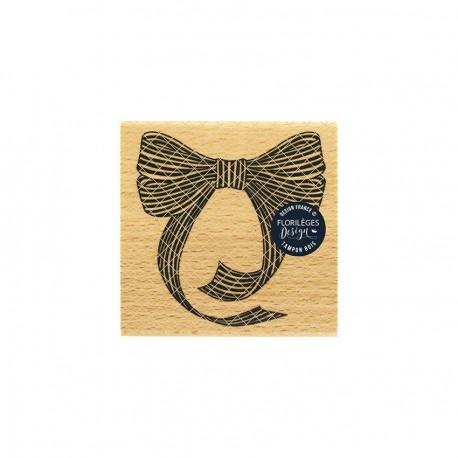 Timbro di legno Florileges Design - NŒUD RAYÉ