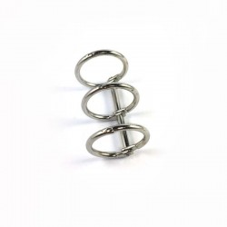 Meccanismo a 3 anelli 20mm argento - Binding 3 rings silver