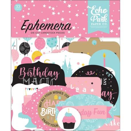 Echo Park Magical Birthday Girl Ephemera