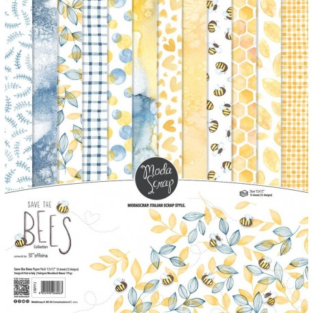 PAPER PACK MODASCRAP - SAVE THE BEES 12X12""