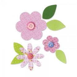 Sizzix Bigz Die - Flower Layers & Leaves