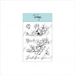 Tommy clear stamps – Peach blossom branch