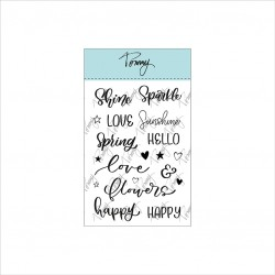 Tommy clear stamps – Spring Words by Lettersofme